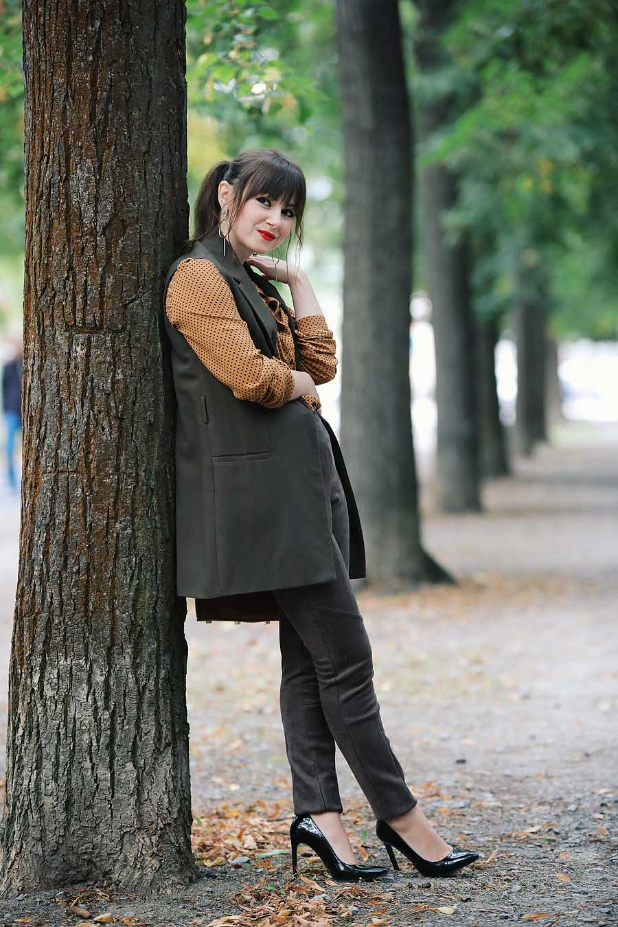 outfit klassische herbstfarben f rs b ro fashion blog deutschland. Black Bedroom Furniture Sets. Home Design Ideas