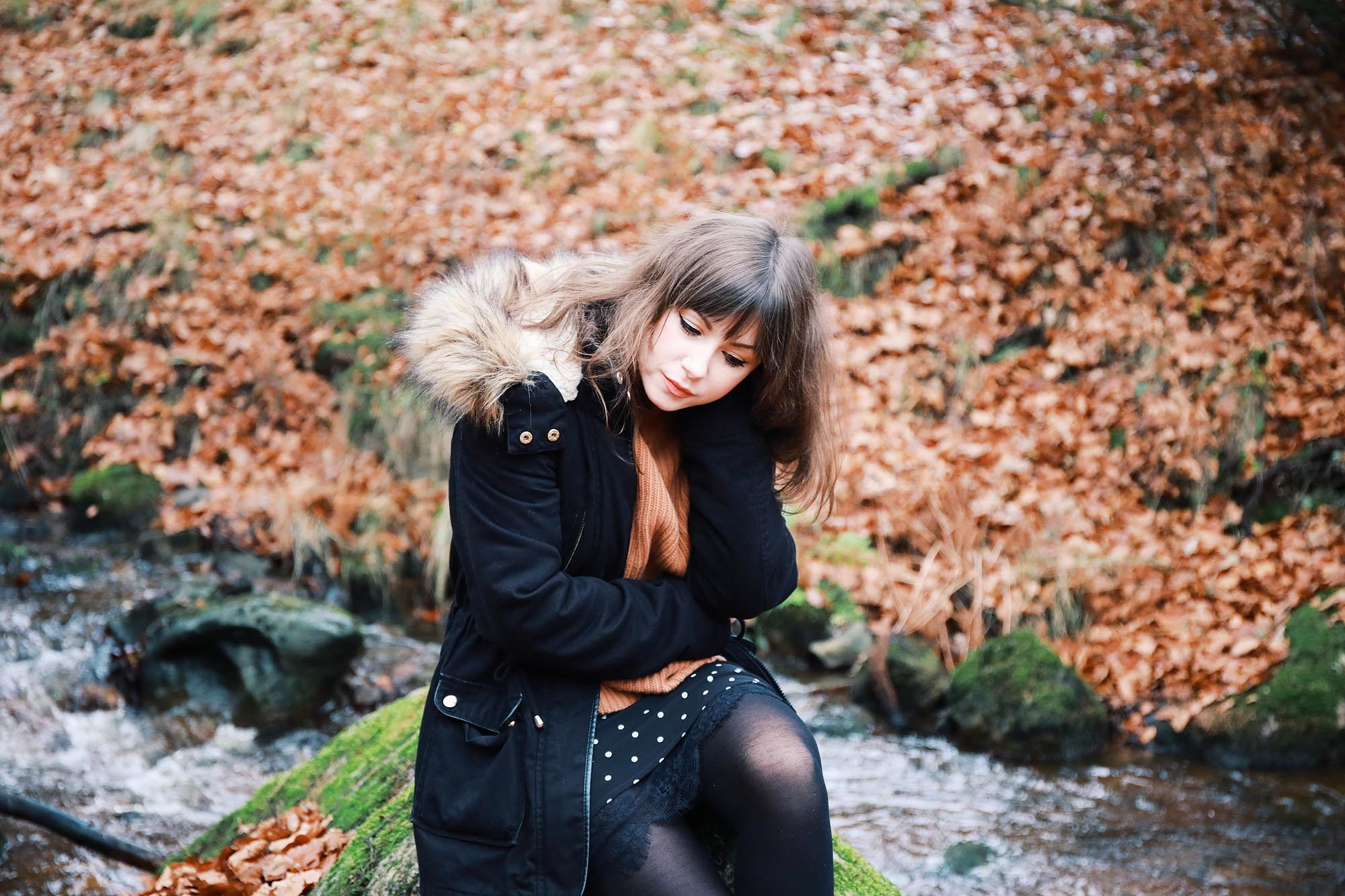 Herbst in Tschechien: Parka & Faux Fur Jacke