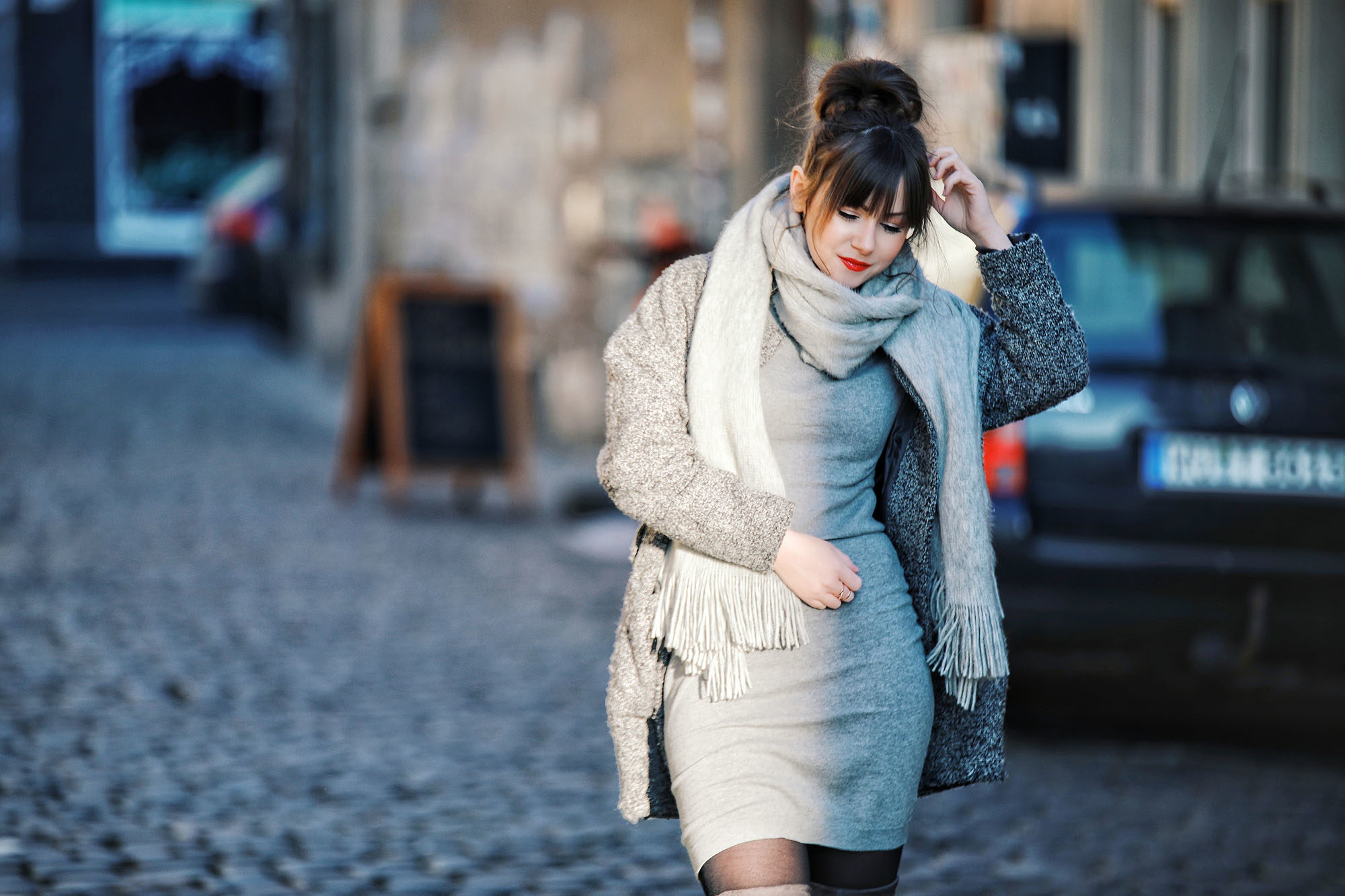 Winter Outfit Inspiration: Monochrom